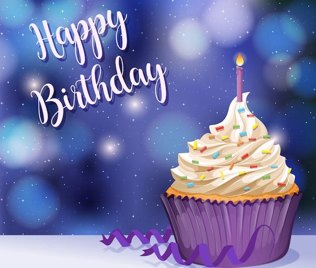 Szczęśliwa kartka urodzinowa Darmowych Wektorów