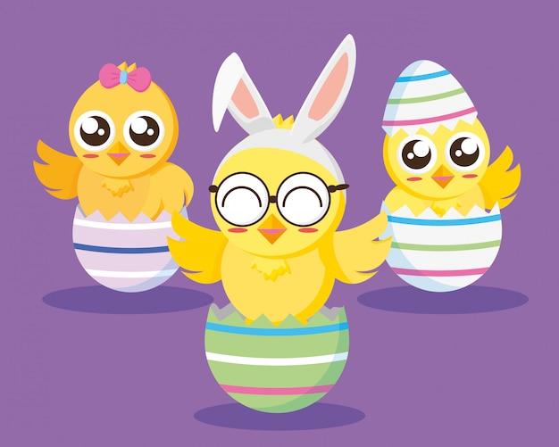 Szczęśliwa Kartka Wielkanocna Darmowych Wektorów