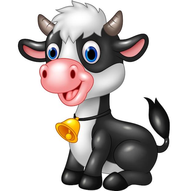 Szczęśliwa Krowa Dziecka Zwierząt | Premium Wektor