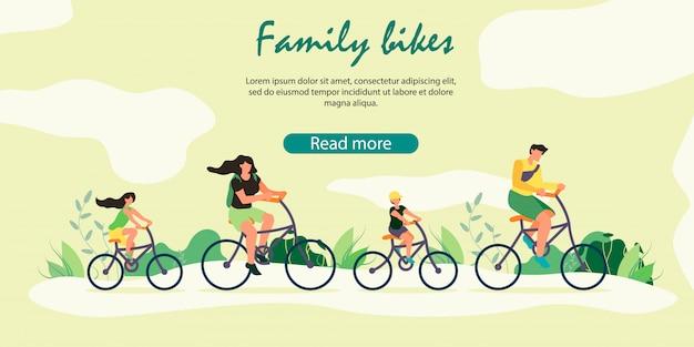 Szczęśliwa Rodzina Zdrowy Styl życia, Aktywność Sportowa Na świeżym Powietrzu. Premium Wektorów