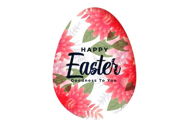 Szczęśliwa Wielkanocna Kwiatu Jajka Jajka Festiwalu Dekoracyjna Karta Darmowych Wektorów
