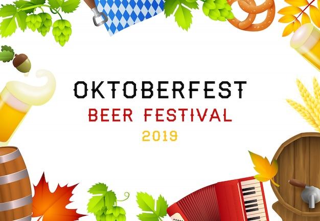 Szczęśliwe elementy oktoberfest i fest Darmowych Wektorów