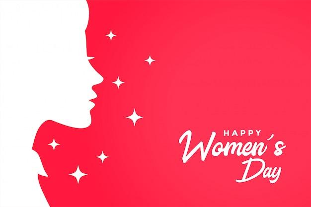 Szczęśliwego Dnia Kobiet Kartkę Z życzeniami Eleganckie Tło Darmowych Wektorów