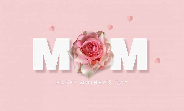 Szczęśliwego Dnia Matki Pozdrowienia Premium Wektorów
