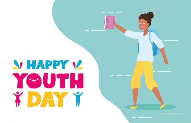 Szczęśliwego dnia młodzieży Darmowych Wektorów