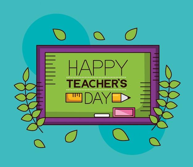 Szczęśliwego dnia nauczyciela Darmowych Wektorów