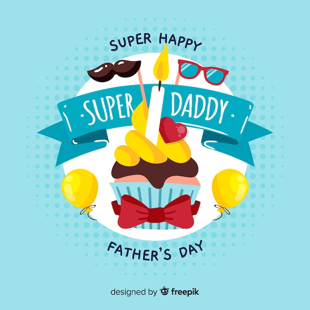 Szczęśliwego Dnia Ojca Darmowych Wektorów