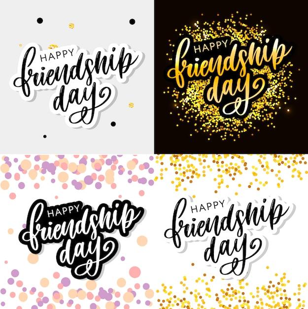 Szczęśliwego dnia przyjaźni Premium Wektorów
