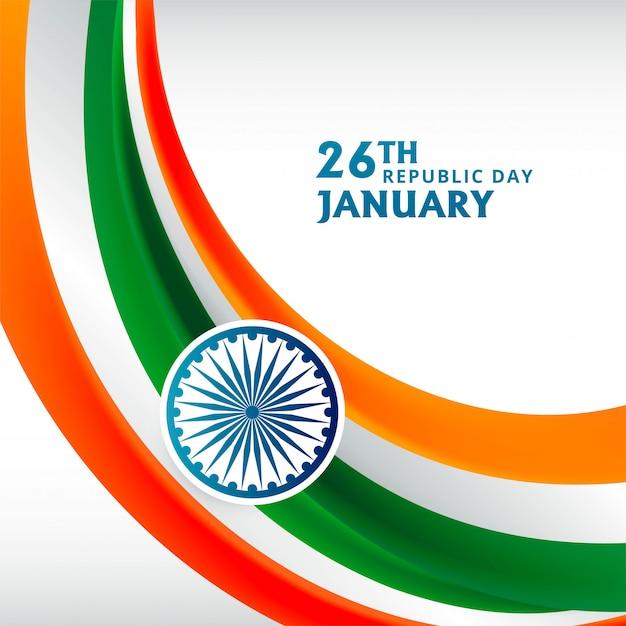 Szczęśliwego Dnia Republiki W Indiach Darmowych Wektorów