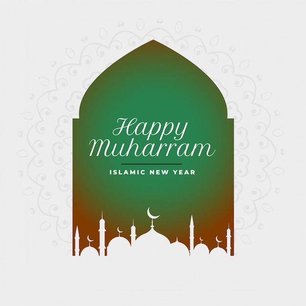 Szczęśliwego muharram muzułmańskiego festiwalu islamski tło Darmowych Wektorów