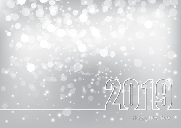 Szczęśliwego Nowego Roku 2019 Tematu Premium Wektorów