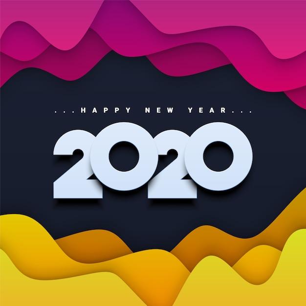 Szczęśliwego nowego roku 2020 tło Premium Wektorów