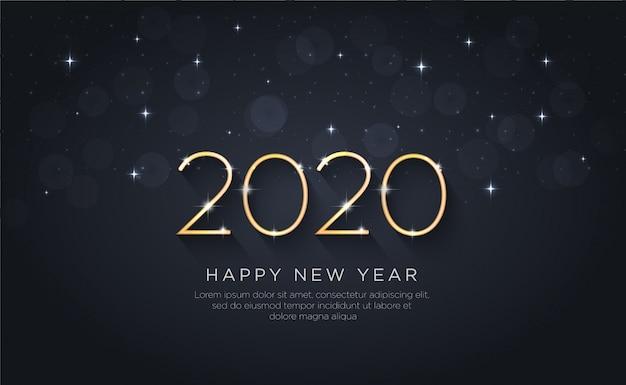 Szczęśliwego Nowego Roku 2020. Wakacje Premium Wektorów