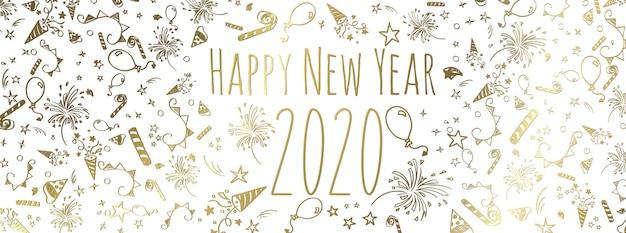 Szczęśliwego Nowego Roku 2020 Premium Wektorów