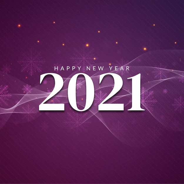 Szczęśliwego Nowego Roku 2021 Dekoracyjne Pozdrowienia Tło Darmowych Wektorów