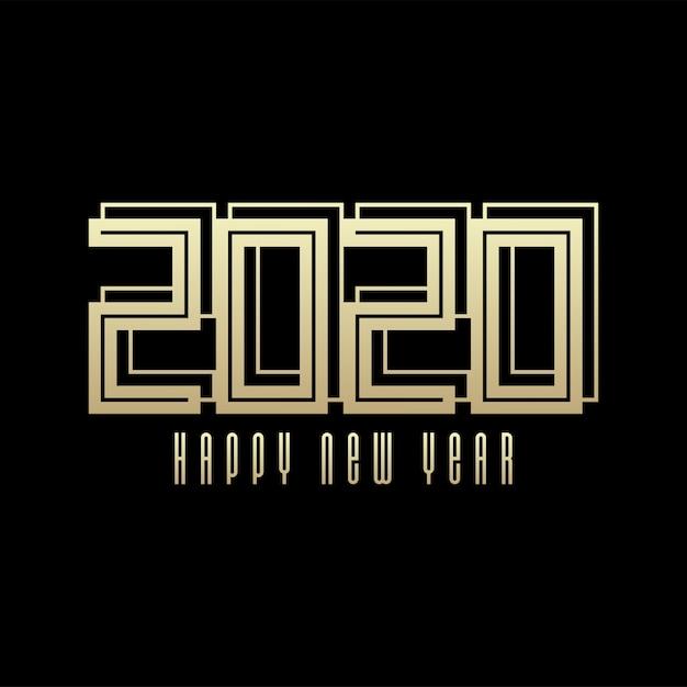 Szczęśliwego Nowego Roku Celebracja Ilustracja Kartkę Z życzeniami Na Nowy Rok Premium Wektorów