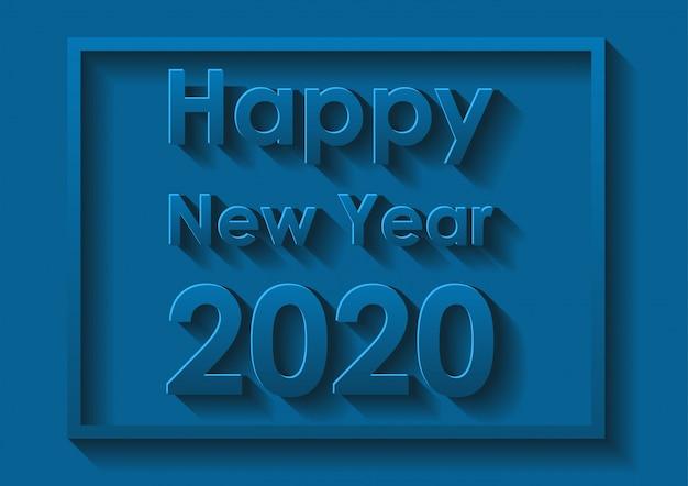 Szczęśliwego Nowego Roku Projekt Karty W Kolorze Niebieskim Darmowych Wektorów