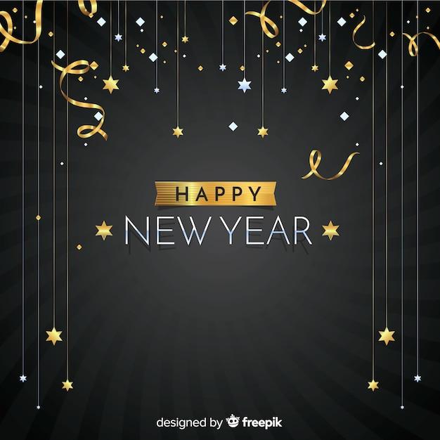 Szczęśliwego nowego roku tło Darmowych Wektorów