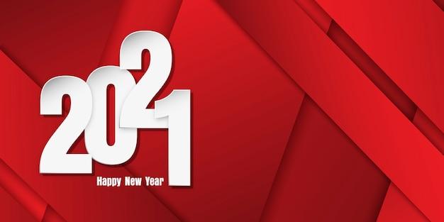 Szczęśliwego Nowego Roku Transparent Z Numerami Stylu Cięcia Papieru Na Geometrycznym Tle Darmowych Wektorów