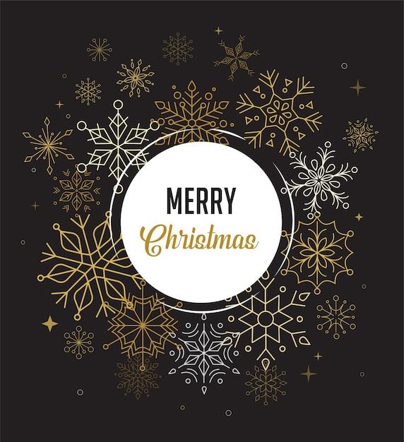 Szczęśliwego Nowego Roku, Wesołych świąt Bożego Narodzenia Tło Z Czystym, Nowoczesnym Wzornictwem Geometrycznych Płatków śniegu Premium Wektorów