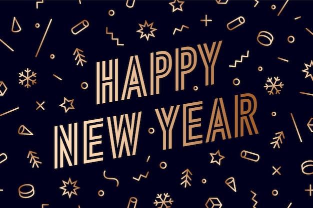 Szczęśliwego Nowego Roku Premium Wektorów
