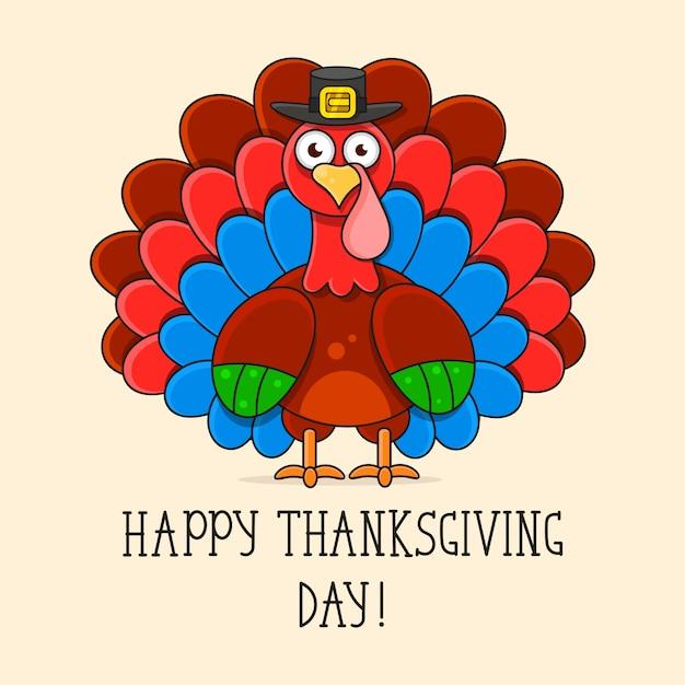 Szczęśliwego święta dziękczynienia turcji Premium Wektorów