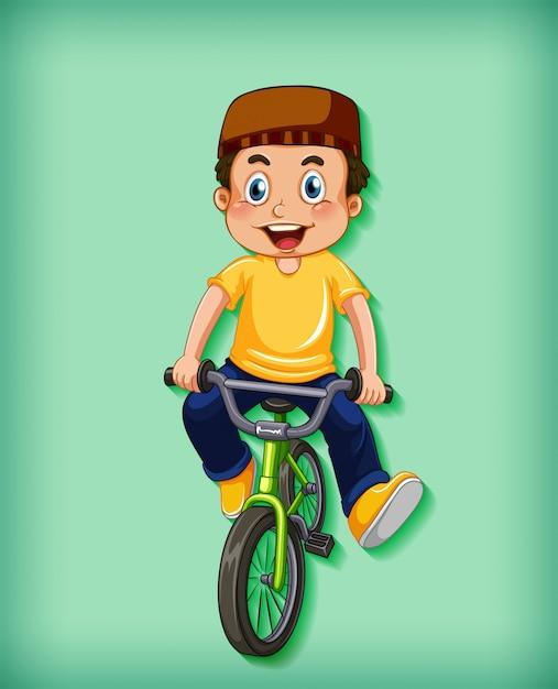 Szczęśliwy Chłopiec, Jazda Na Rowerze Darmowych Wektorów