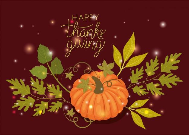 Szczęśliwy dzień dziękczynienia, sezon wakacyjny pozdrowienie i tradycyjną ilustrację Premium Wektorów