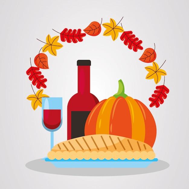 Szczęśliwy Dzień Dziękczynienia Premium Wektorów