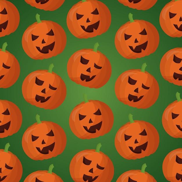 Szczęśliwy dzień halloween wzór Darmowych Wektorów