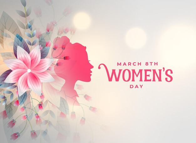 Szczęśliwy Dzień Kobiet Kwiat Ozdobna Karta Darmowych Wektorów