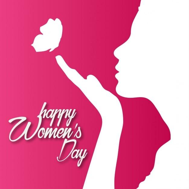 Szczęśliwy Dzień Kobiet Różowe Tło Darmowych Wektorów