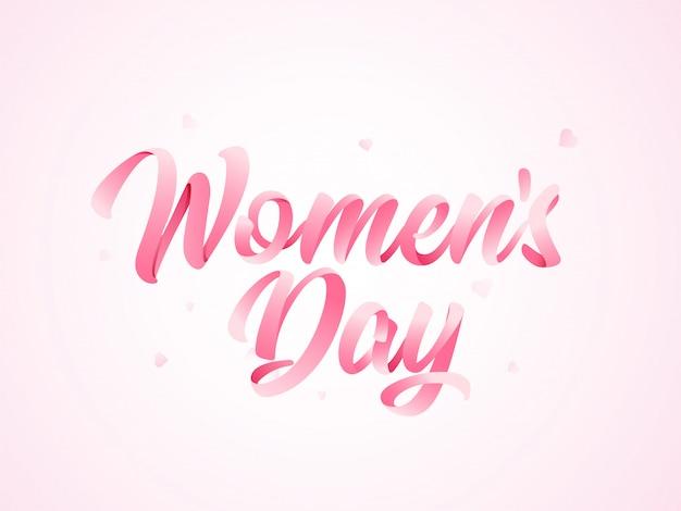Szczęśliwy Dzień Kobiet Tło. Premium Wektorów