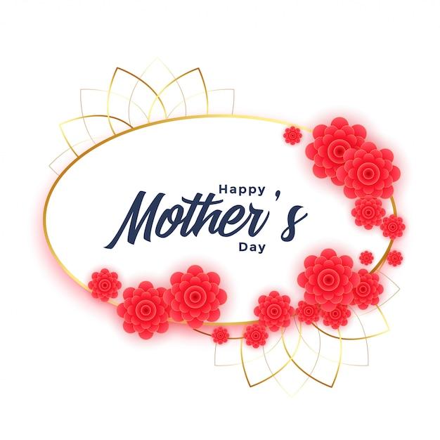 Szczęśliwy Dzień Matki Tło Z Kwiatem Framehappy Dzień Matki Tło Z Kwiatem Ramki Darmowych Wektorów