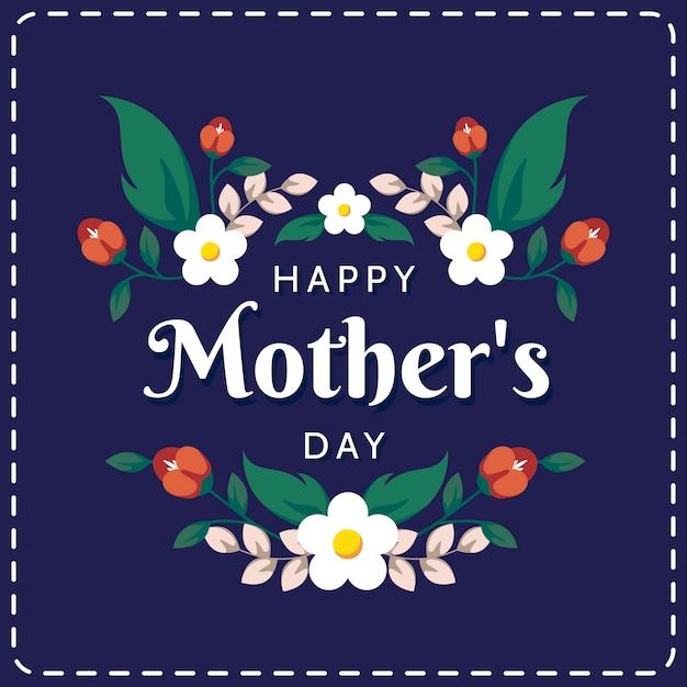 Szczęśliwy Dzień Matki Tło Darmowych Wektorów