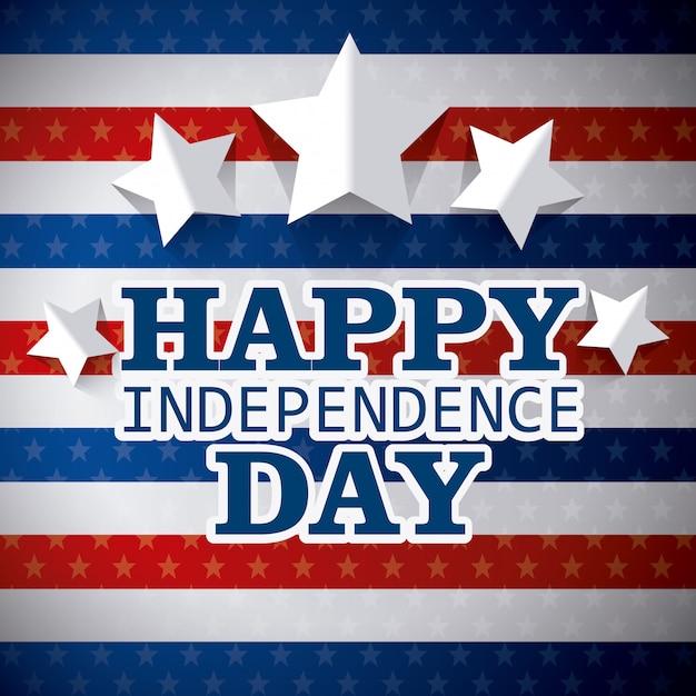 Szczęśliwy dzień niepodległości 4 lipca projekt usa Darmowych Wektorów
