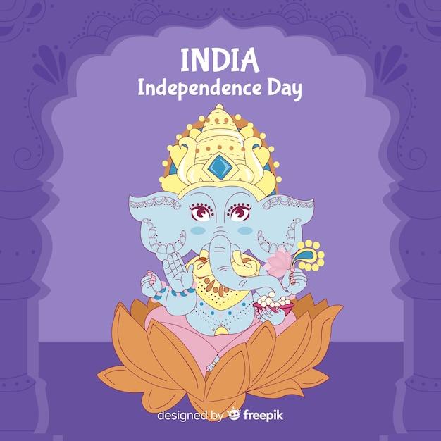 Szczęśliwy dzień niepodległości indii tło Darmowych Wektorów