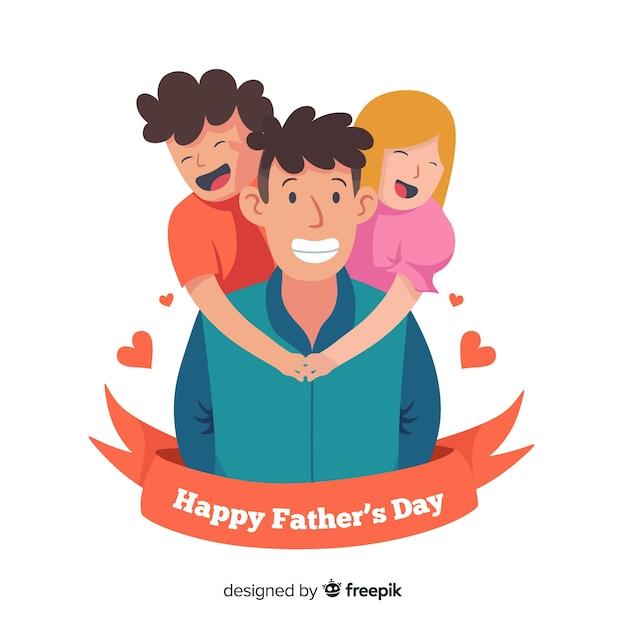 Szczęśliwy dzień ojca tło Darmowych Wektorów