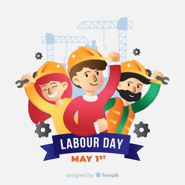 Szczęśliwy Dzień Pracy Tło Darmowych Wektorów