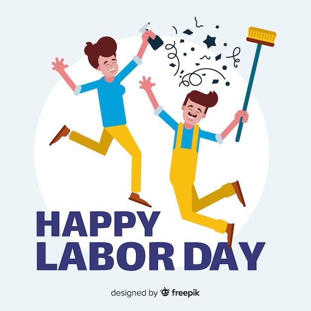 Szczęśliwy dzień pracy Darmowych Wektorów