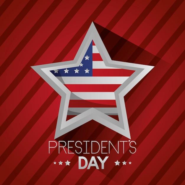Szczęśliwy Dzień Prezydentów Darmowych Wektorów