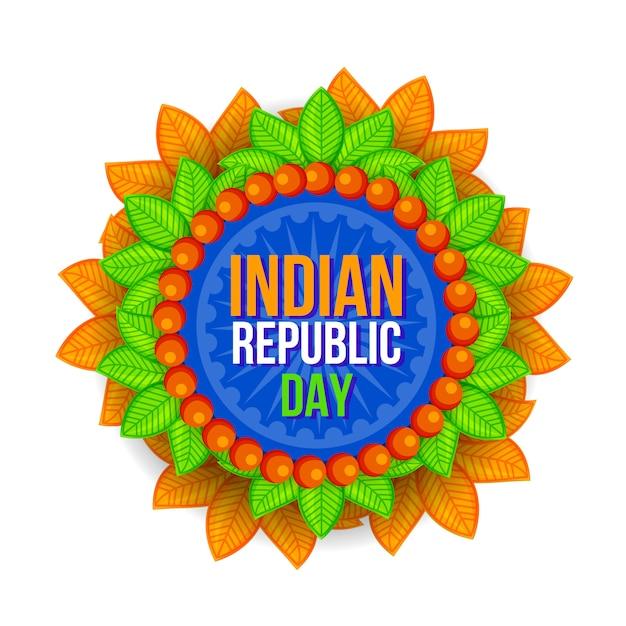 Szczęśliwy Dzień Republiki Indii Festiwal Tło Premium Wektorów