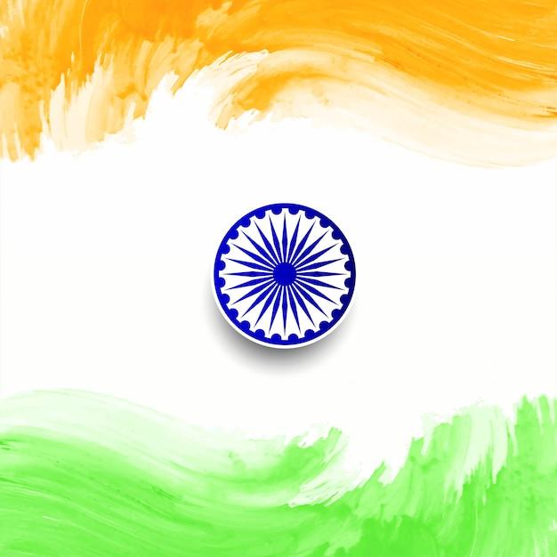Szczęśliwy dzień republiki indii flaga projekt tła Premium Wektorów