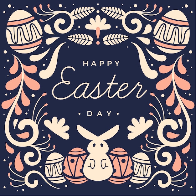 Szczęśliwy Dzień Wielkanocy Ręcznie Rysowane Stylu Darmowych Wektorów