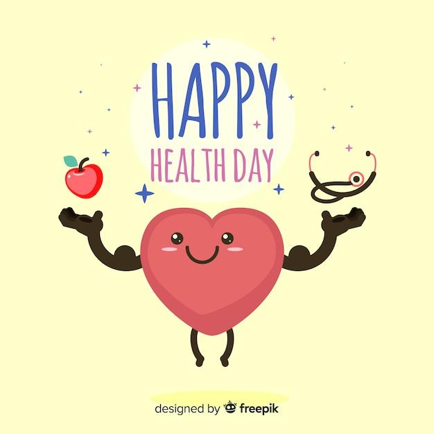 Szczęśliwy Dzień Zdrowia Darmowych Wektorów