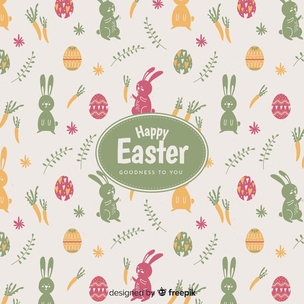 Szczęśliwy Easter Dnia Tło Darmowych Wektorów