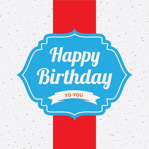 Szczęśliwy kartka urodzinowa Darmowych Wektorów