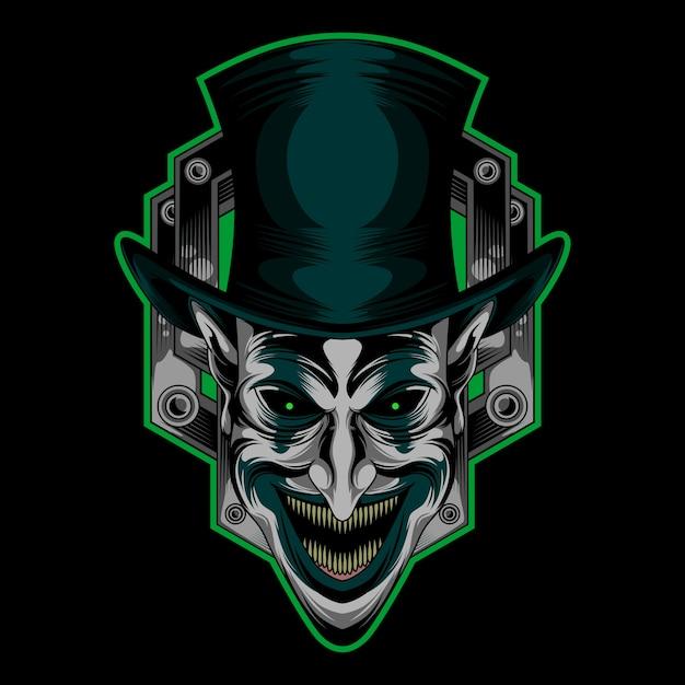 Szczęśliwy klaun logo Premium Wektorów