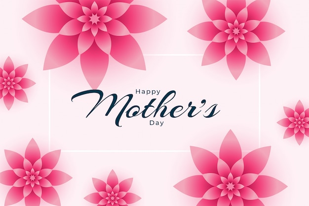 Szczęśliwy Matka Dnia Kwiatu Dekoraci Tła Projekt Darmowych Wektorów