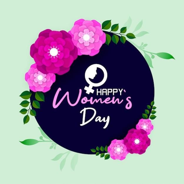 Szczęśliwy międzynarodowy dzień kobiet 8 marca Premium Wektorów